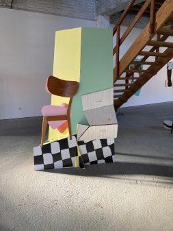 Sculpture plan n°3, vue d'exposition, Signes domestiques, L'H du Siège, Valenciennes, 2020