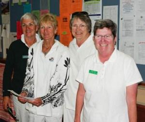 2016 BSI Women's Fours 2nd 3-game winners Bev Carter, Ann O'Genski, Jackie Day and Maryanne Little. Sidney