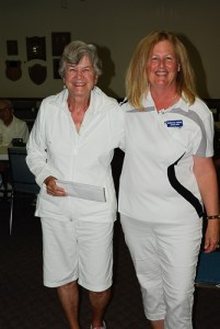 2016 Beckwith Scotch Pairs 2-game winners Gale Law and Dorothy Verge