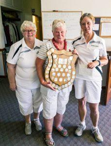 2016 President's Shield Winners Jill Foster, Janet Gardner and Ann Stewart
