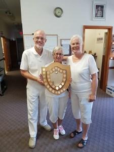 2016 Anniversary Triples Winners Svend Klausen, Gail Richards and Mary Wilson