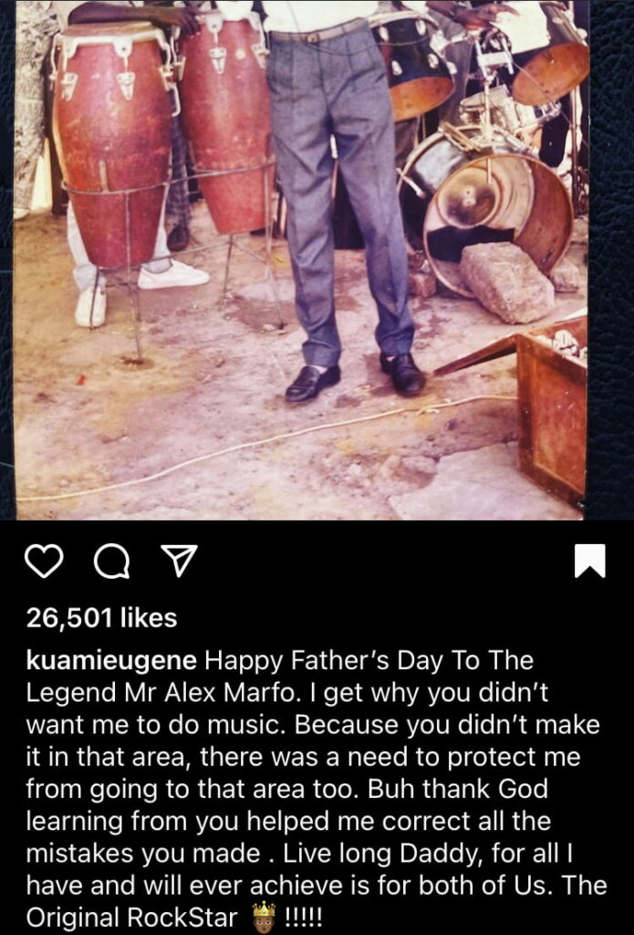 Kuami Eugene Shows His Real Father, This Will Surprise You