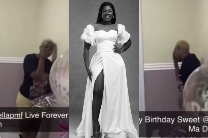 Fella Makafui Was Given A Wonderful Birthday Surprise At Midnight