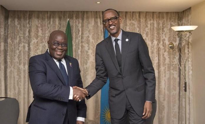 Nana addo and Paul Kagame