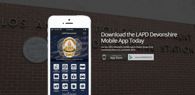 LAPD Devonshire Mobile App by Apex Mobile Apex Mobile