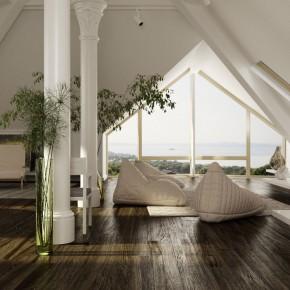 Beautiful Sloped Ceiling Design Interior Design Design