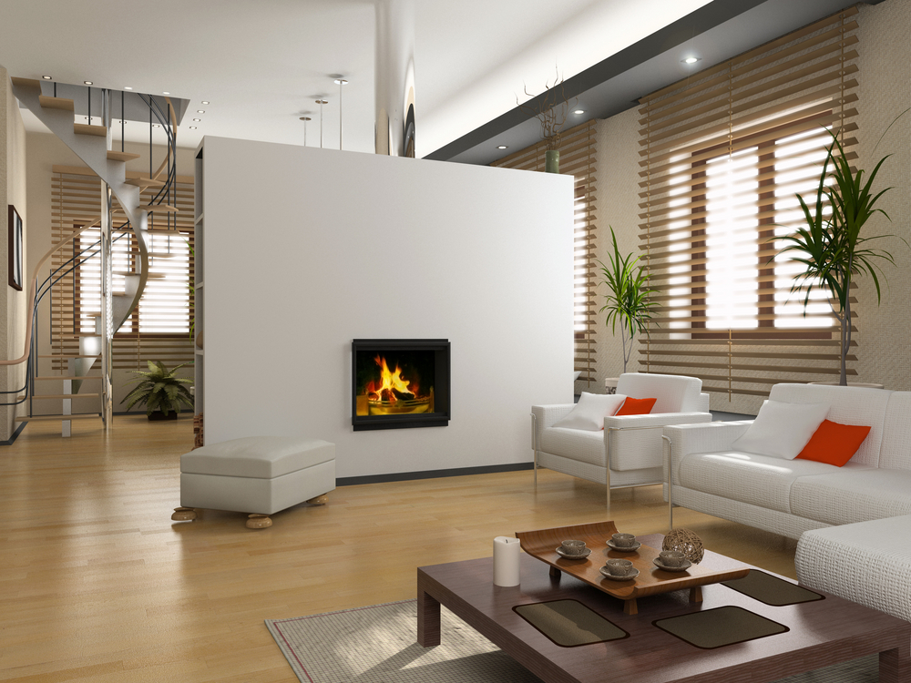 Modern living room fireplace - Interior Design Ideas