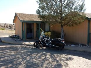 My humble abode in Cheyenne, Wyoming. Packing up for the day's ride.