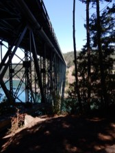 The bridge over Deception Pass on Whidbey Island.