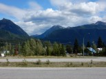 A view of the mountains east of Blue River, BC during a gas/snack stop.