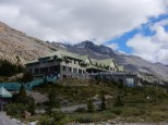 The lodge at the Athabasca Glacier in Jasper Park.