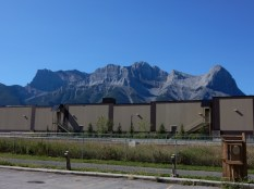 The mountains west of our hotel in Canmore, AB.