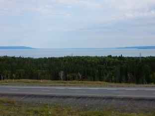 A view from a bluff overlooking Thunder Bay, ON.