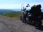 The Vector gazes down the Lake Superior coastline from the vantage afforded by Brockway Mountain.