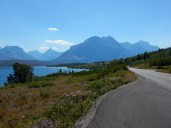 Lake St. Mary from just inside Glacier NP.