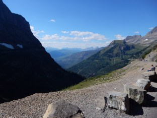Loitering and taking photos just before the traffic backup in Glacier NP. That's Dave (or David, I can't tell which) in the distance.