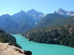 The southern extent of Diablo Lake.