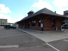 The old Houghton, MI railroad station.