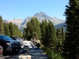 Parking at the gun sight overlook in Glacier NP.