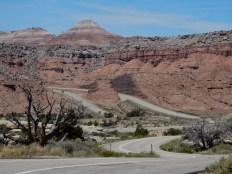 Looking west along I70 in Utah.