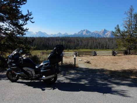 A Nightowl poses in front of the Sawtooth Mountain range in Idaho.