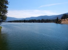 A reservoir on the Flathead River at Thompson Falls, Montana.V