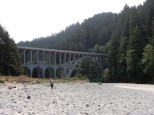 The US101 bridge over Cape Creek just south of the Heceta Head lighthouse.