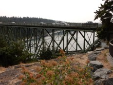 The Deception Pass bridge.