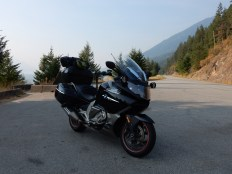 The Nightowl takes a brief rest after thrashing the north half of highway 3A north of Creston.