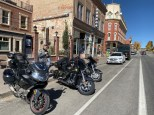 The bikes on Main Street in Leadville, Colorado.