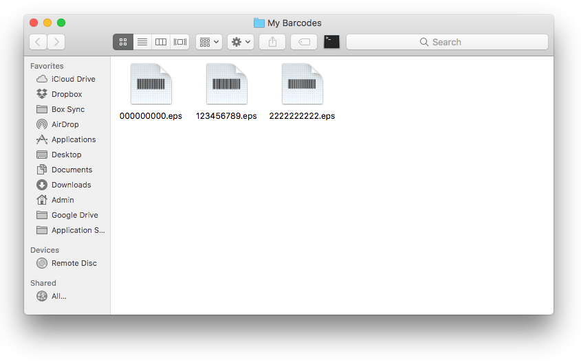 Creating a simple Automator workflow to make barcodes - ghostotter