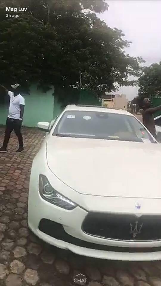 Shatta Wale Keeps His Promise And Dashes A Maserati Car To A Lucky Winner