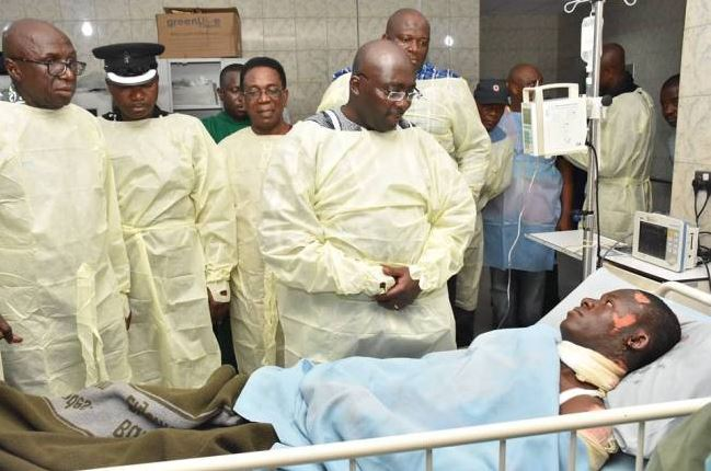 PHOTOS: Vice President Bawumia visits gas explosion victims