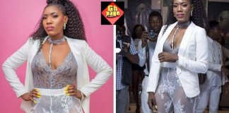 Huh! Ghanaian Actress Victoria Lebene goes naked atDJ Mensah 'All White Party' [Photos]