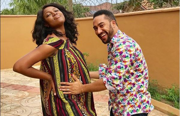 Photo: Majid Michel in pose with pregnant Yvonne Nelson and when He Held the Baby Bump is just too cute