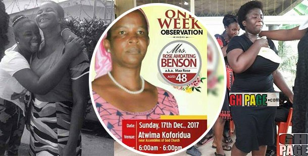 Maame Serwaa pays a heartwarming Tribute to her late mother as she observes her one-week memorial today(Photos)