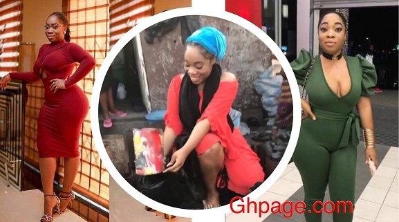 Popular Ghanaian Socialite Moesha Boduong turns Charcoal Seller [Video]