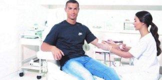 Photos: Real Madrid Super Star Cristiano Ronaldo Donates Blood To Save Lives