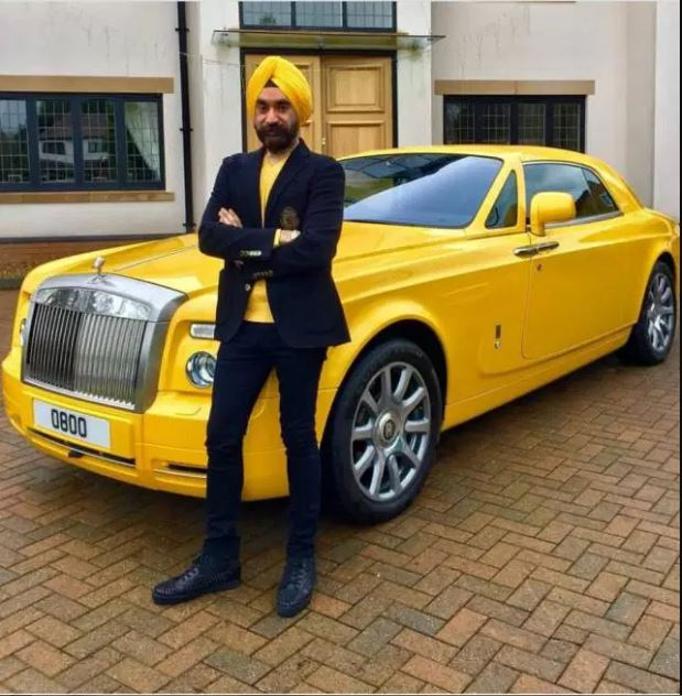 Meet The Billionaire Who Matches The Color Of His Turban With A Matching Rolls Royce