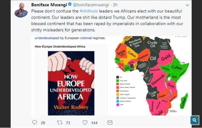 Africans on Twitter Respond To President Trump After He Referred To African Countries As 'Shitholes'