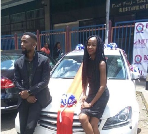Photos: Lady surprises boyfriend with brand new Mercedes Benz as Valentines's Day
