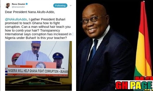 Reno Omokri Lashes President Buhari Following His Comments On Helping Nana Addo To Fight Corruption