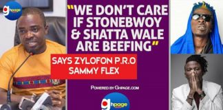 We Don't Care If Stonebwoy And Shatta Wale Are Beefing - Sammy Flex