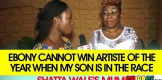 Ebony Can Never Win VGMAs 'Artiste Of The Year' - Shatta Wale's Mother