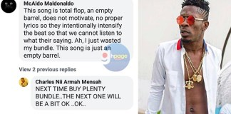 """This song is total flop, an empty barrel, does not motivate"" - SM fan blasts Shatta Wale"