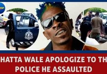 Video: Shatta Wale has finally apologized to the police officer he assaulted because he stopped his car