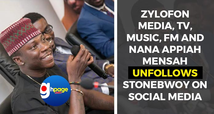 Photos: Zylofon Media, Tv, Music, Fm and Nana Appiah Mensah unfollows Stonebwoy on Social Media