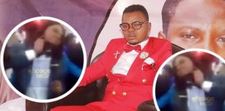 Video: Another Tomfoolery hits Social Media As 'Angel' Obinim Dresses Like A Lady To Church