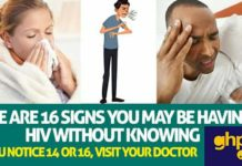 Here're 16 signs you may be having HIV without knowing - If you notice 14 or 16,visit your doctor now