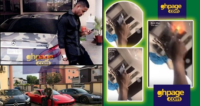 Ibrah One Is Going 'Mad': He Just Fired Gunshot In His Bedroom Whiles Cursing His Enemies [Video]